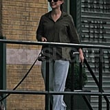 First pictures of new mom Natalie Portman out solo.