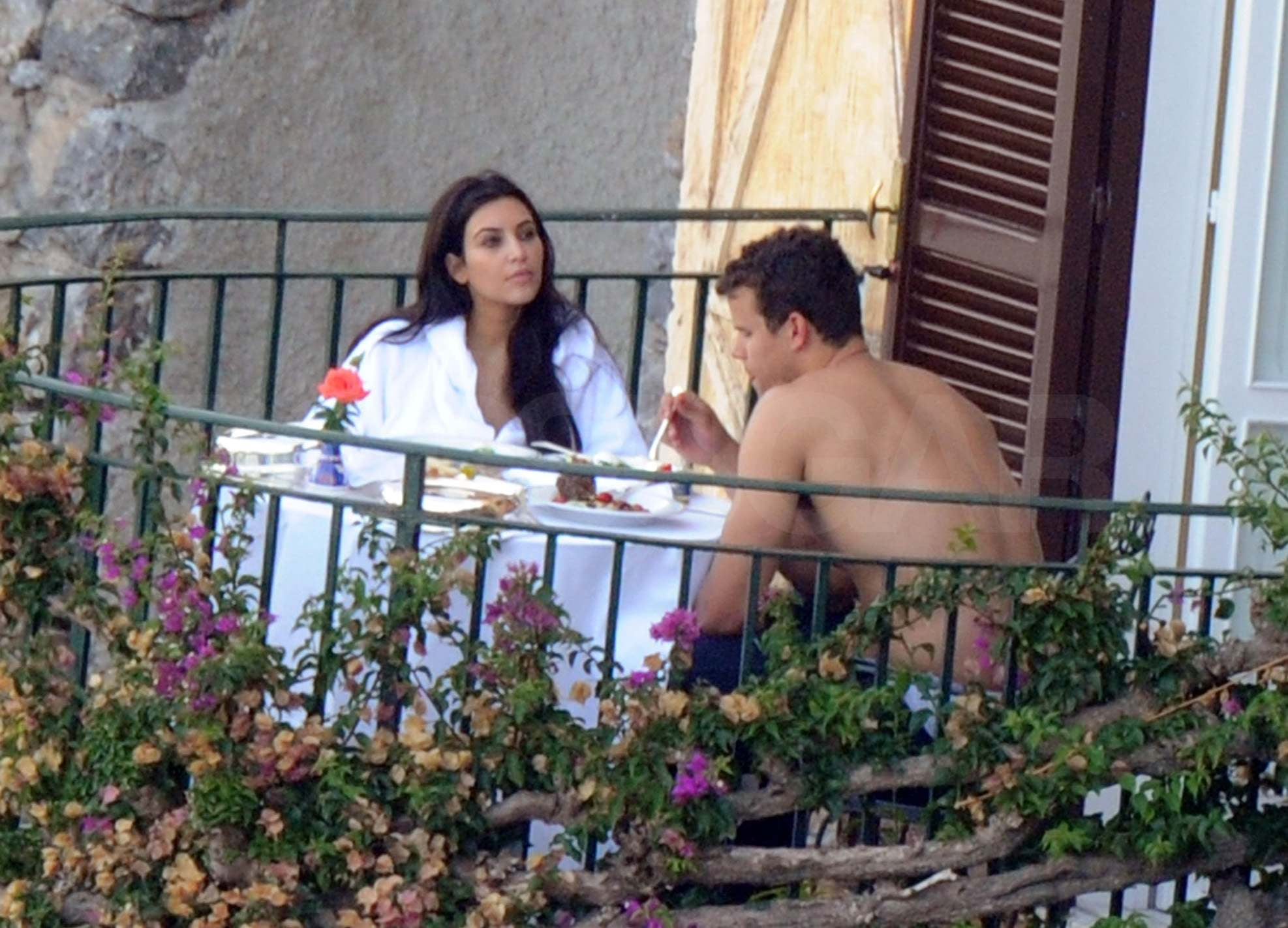 Kim Kardashian and Kris Humphries took a trip to Italy after their August 2011 nuptials.