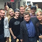 That time the whole cast got together backstage at Comic-Con.