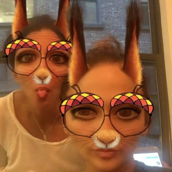 Jennifer Lopez Snapchat With Her Sister Lynda October 2016