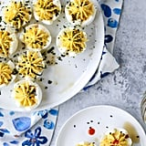 Toasted Sesame Sriracha Deviled Eggs