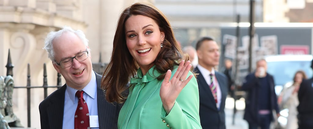 "The Duchess of Cambridge's New Maternity Coat Says, ""Goodbye Winter, Hellooo Spring!"""