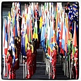 All participating countries displayed their flags during the closing ceremonies.Source: Instagram user usa today