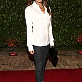 Eva Longoria attended the Art of Fusion event on the exclusive Star Island on Friday.