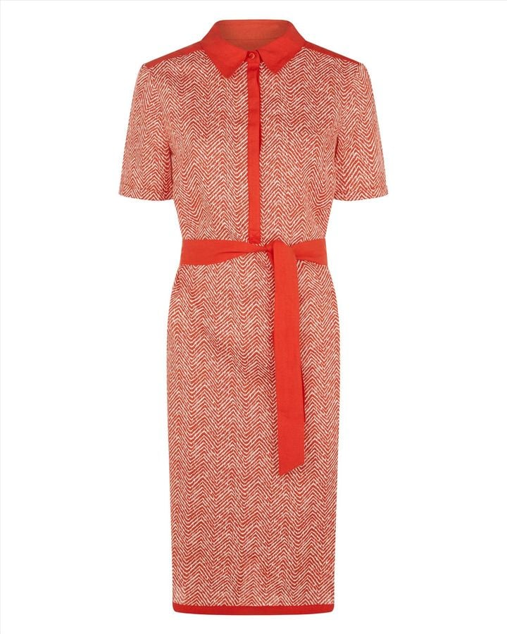 4603f3aa116 Jaeger orange linen shirt dress (£150)