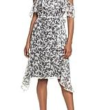 Lenon Cold-Shoulder Chiffon Dress