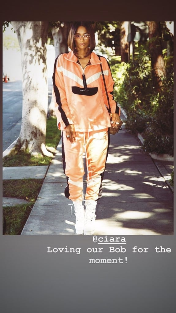 """Celebrity hairstylist César DeLeön Ramirêz posted the same photo as Ciara on his Instagram story, saying the look is """"for the moment."""""""