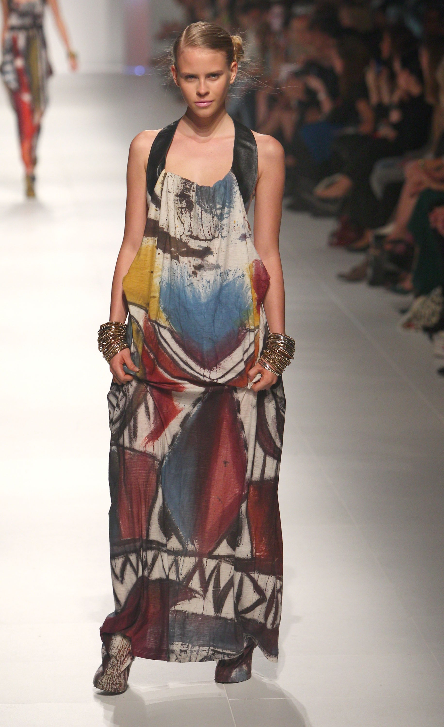 Jason Hewitt's ethnic inspired designs caught our eye at the National Graduate Showcase show.