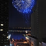Fireworks make a bang at the Macy's fireworks show in New York City.