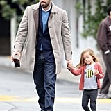 Ben Affleck had breakfast with Seraphina in LA.