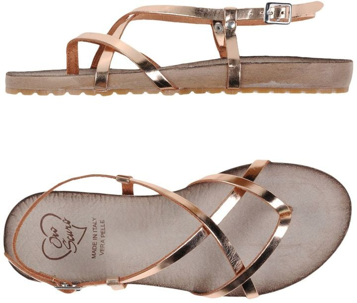 Pair OROSCURO toe-strap sandals ($63, originally $91) with your favorite denim shorts and a white t-shirt.