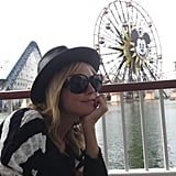 Heidi Klum shared a photo of herself at Disneyland. Source: Twitter user heidiklum