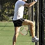 Pictures of John Mayer Playing Tennis