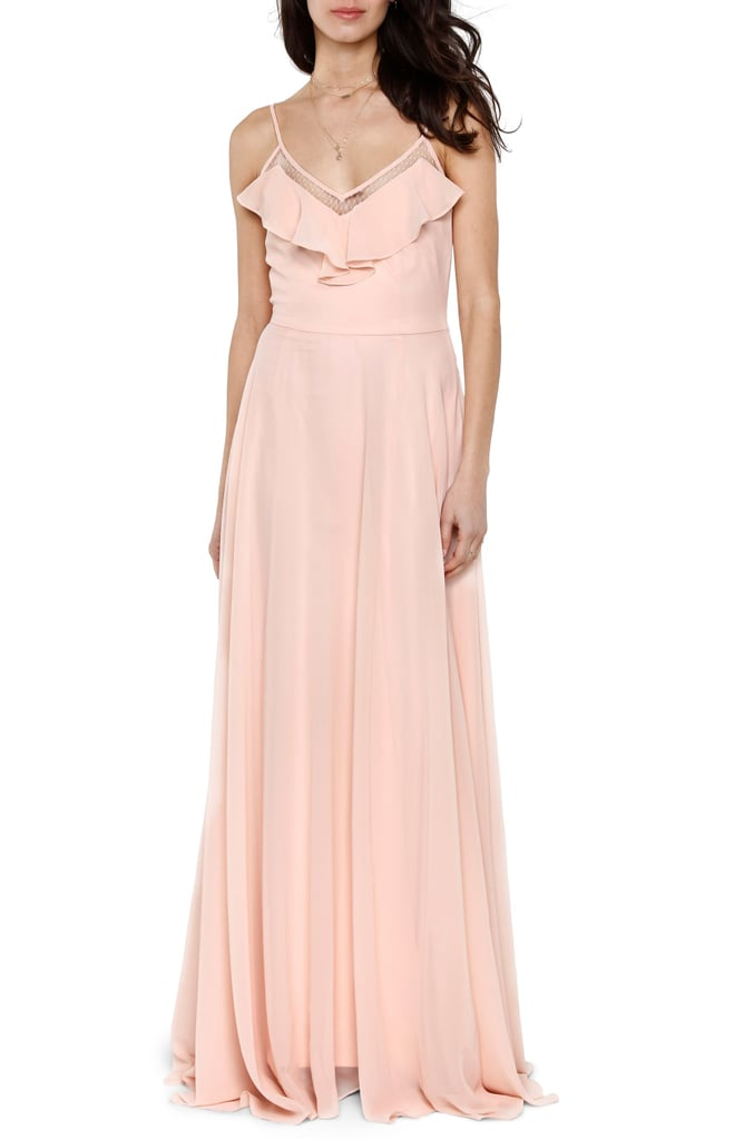 Heartloom Francie Ruffle V-Neck Gown