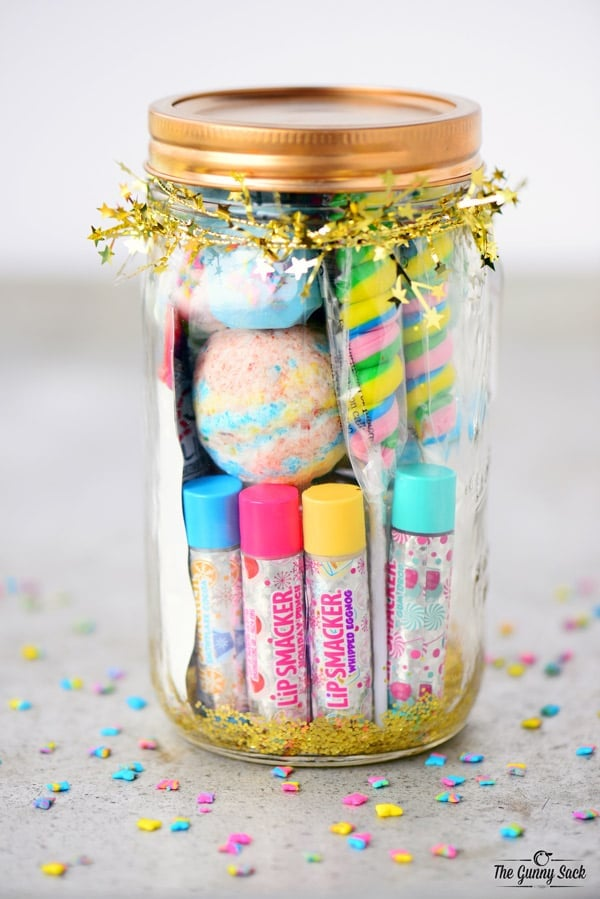Unicorn Spa Jar   Homemade Birthday Party Favors For Kids