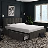 DHP Velvet-Queen Upholstered Bed