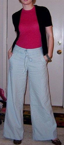 Look of the Day: Return of Wide Legged Trousers