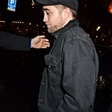 Robert Pattinson left the Museum of Decorative Arts.