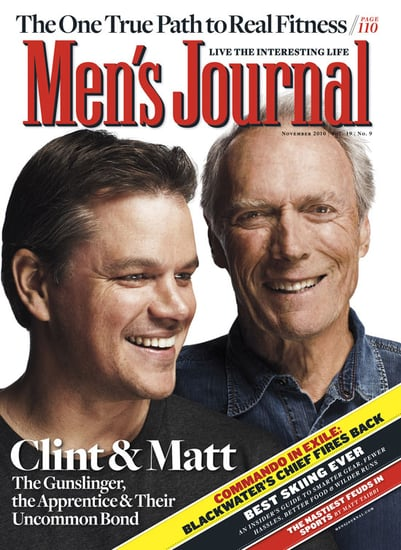Pictures of Matt Damon and Clint Eastwood on the Cover of Men's Journal