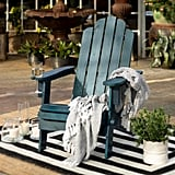 Walker Edison Furniture Company Navy Blue Outdoor Patio Wood Adirondack Chair