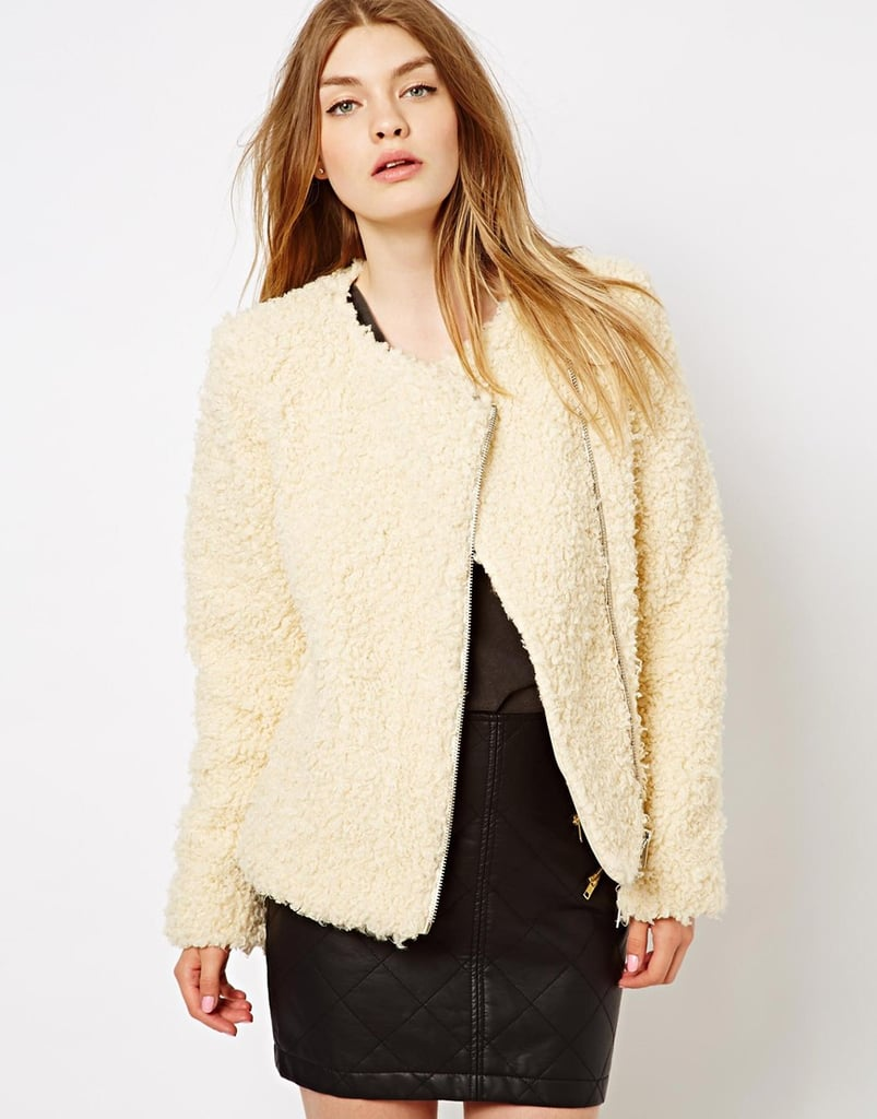 Whether you layer this Barneys Originals Faux Fur Biker Jacket ($82, originally $170) under your overcoat or show it off on its own, the effect is just as chic and completely cozy.