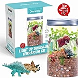 Onnetila Dinosaur Fairy Garden in a Jar Light Up Terrarium Kit
