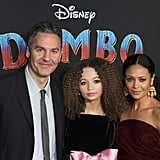 Thandie Newton and Her Family at the Dumbo Premiere in LA