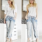 Keep it casual with rolled-up boyfriend jeans and your favorite white tank. Photo courtesy of Lookbook.nu