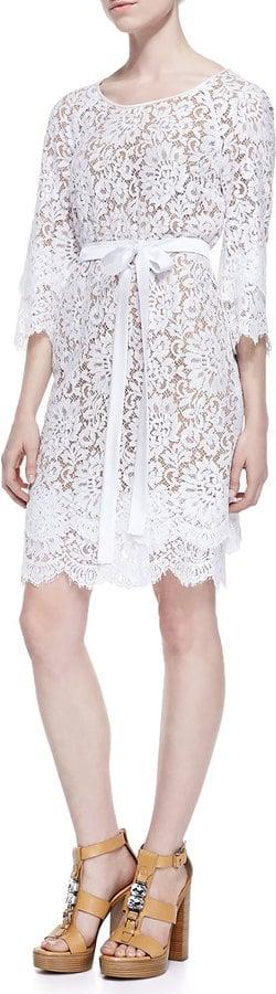 Michael Kors Collection Tie-Waist Scalloped Lace Dress ($2,995)