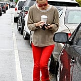 Kate Hudson took coffee to go in LA.