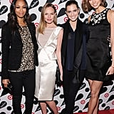 Zoe Saldana, Kate Bosworth, Allison Williams, and Karlie Kloss linked up on the red carpet in NYC.