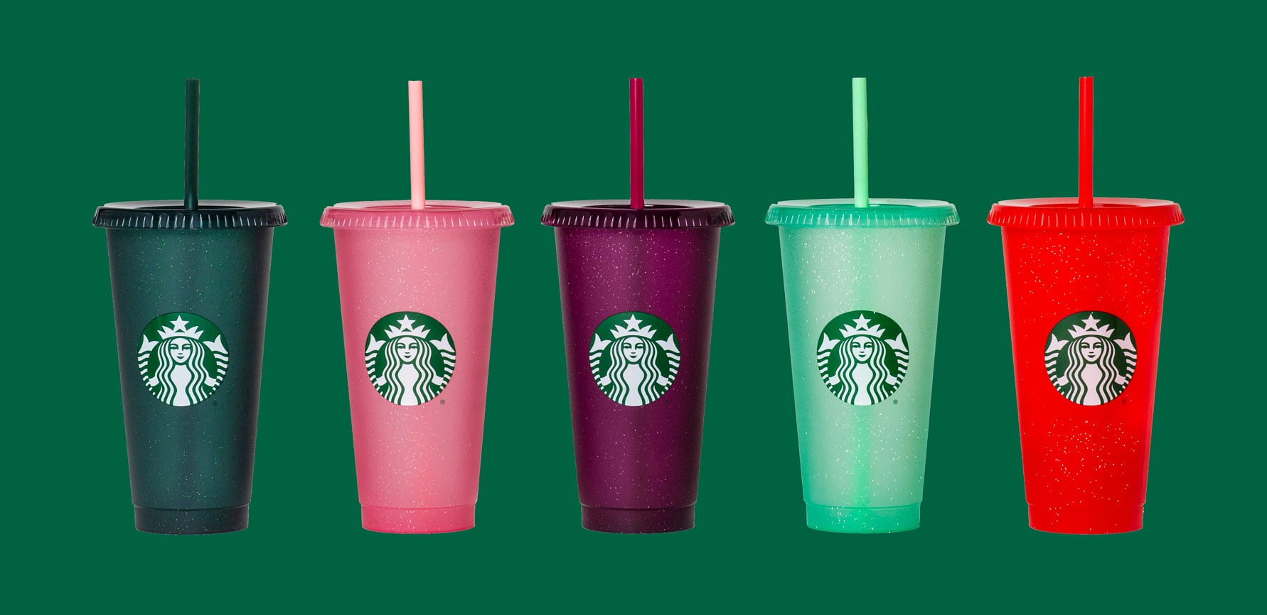 Starbucks Holiday 2020 Limited Edition Sparkle Cups