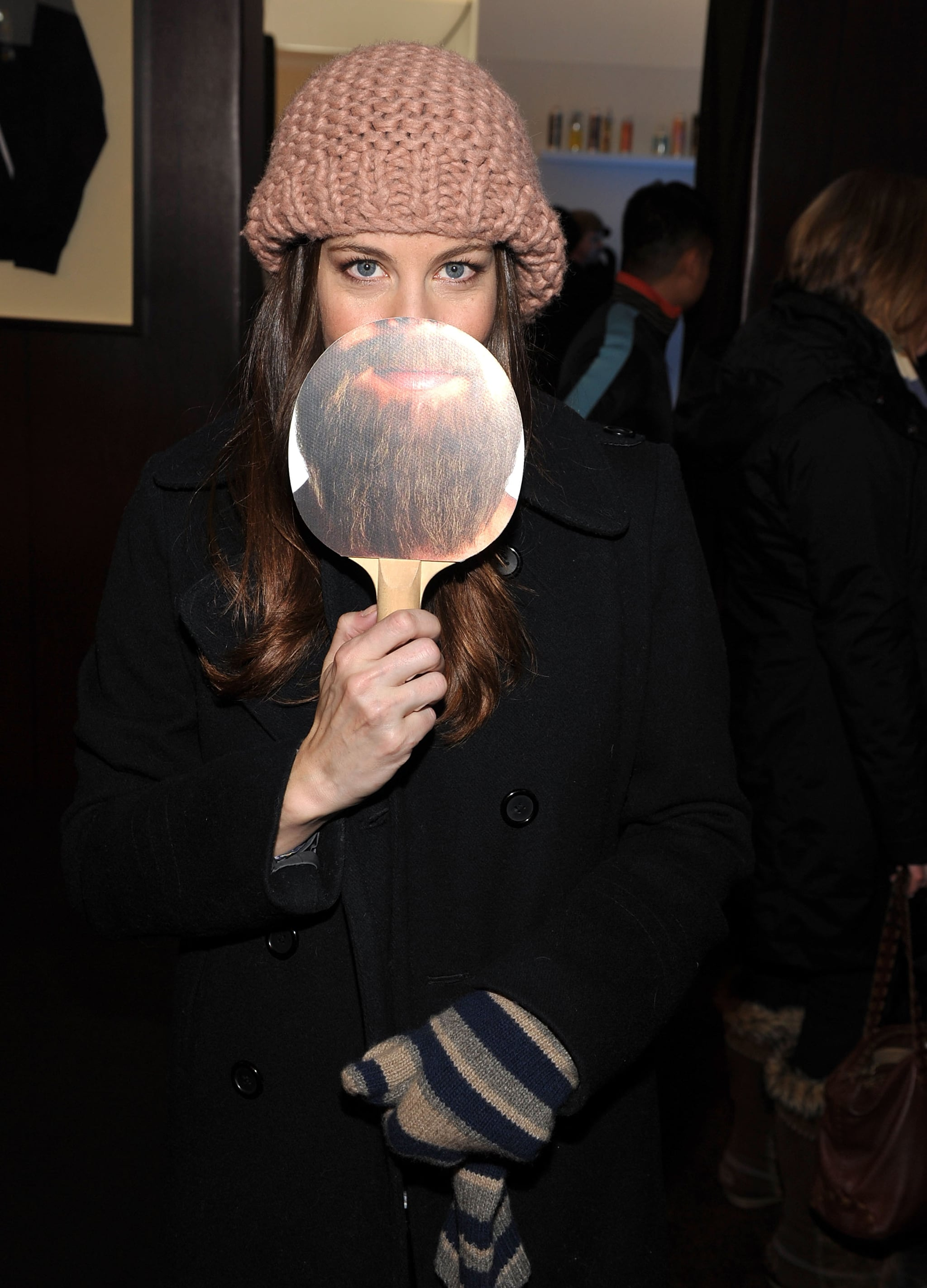 """Actress Liv Tyler sported an """"Alan"""" beard at day two of Sundance in 2012."""