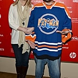 Lisa Kudrow hit the red carpet with Kevin Smith at the Misery Loves Comedy premiere.