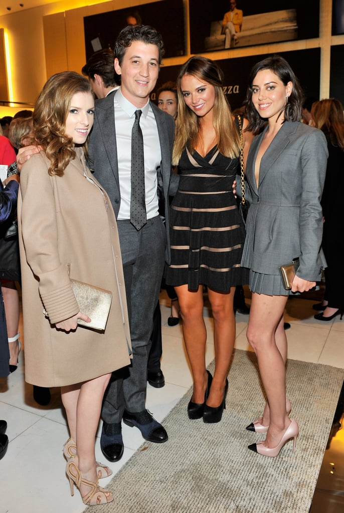 Anna Kendrick, Miles Teller, and Aubrey Plaza were dressed to the nines for the Giorgio Armani party on Friday.