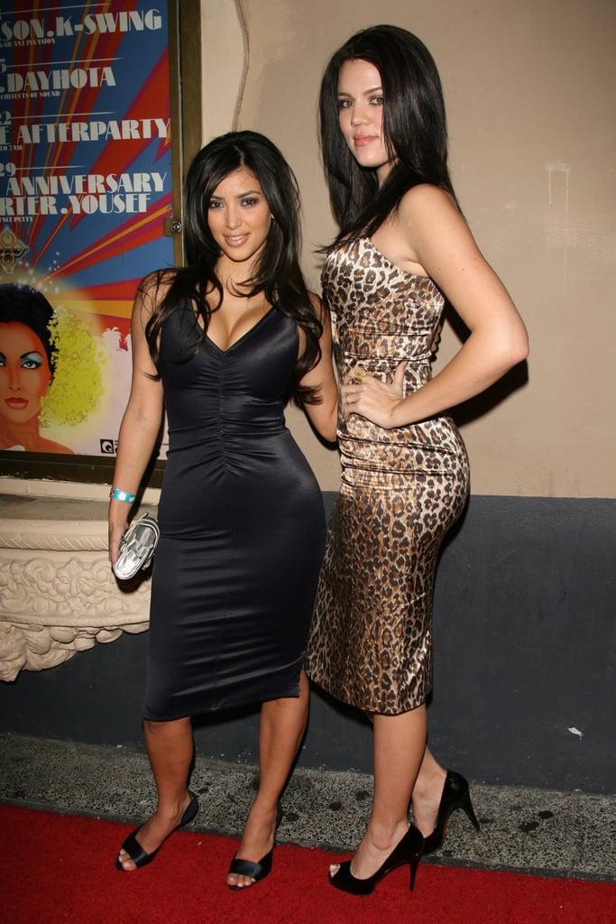 Khloe Kardashian With Dark, Layered Hair in 2006