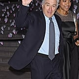 Robert De Niro waved to fans.