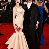 Dita von Teese and Zac Posen