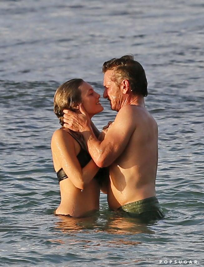 Sean Penn Kissing Leila George in Hawaii Pictures 2016