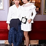 Olivia Kim and Miroslava Duma dined with Nordstrom at Chez Julien in Paris.