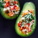 Quinoa-Stuffed Avocado