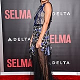 A strong side profile is key for Tessa at the premiere of Selma in December 2014.
