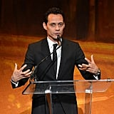 Marc Anthony spoke at the Latino Inaugural Ball at the Kennedy Center in DC Sunday night.