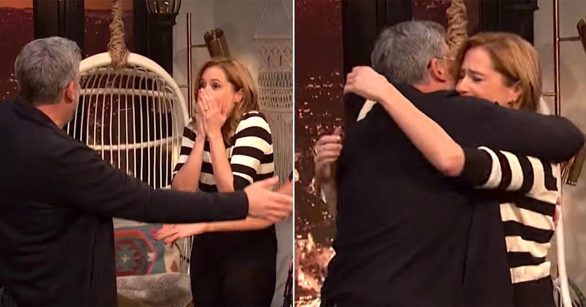 ba08aebb1c235 Steve Carell Surprised Jenna Fischer For Her Birthday, and My Office-Loving  Heart Is Full | POPSUGAR | Bloglovin'