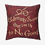 Solemnly Swear Woven Tapestry Throw Pillow