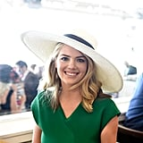 Kate Upton flashed a sweet smile at Churchill Downs in 2017.