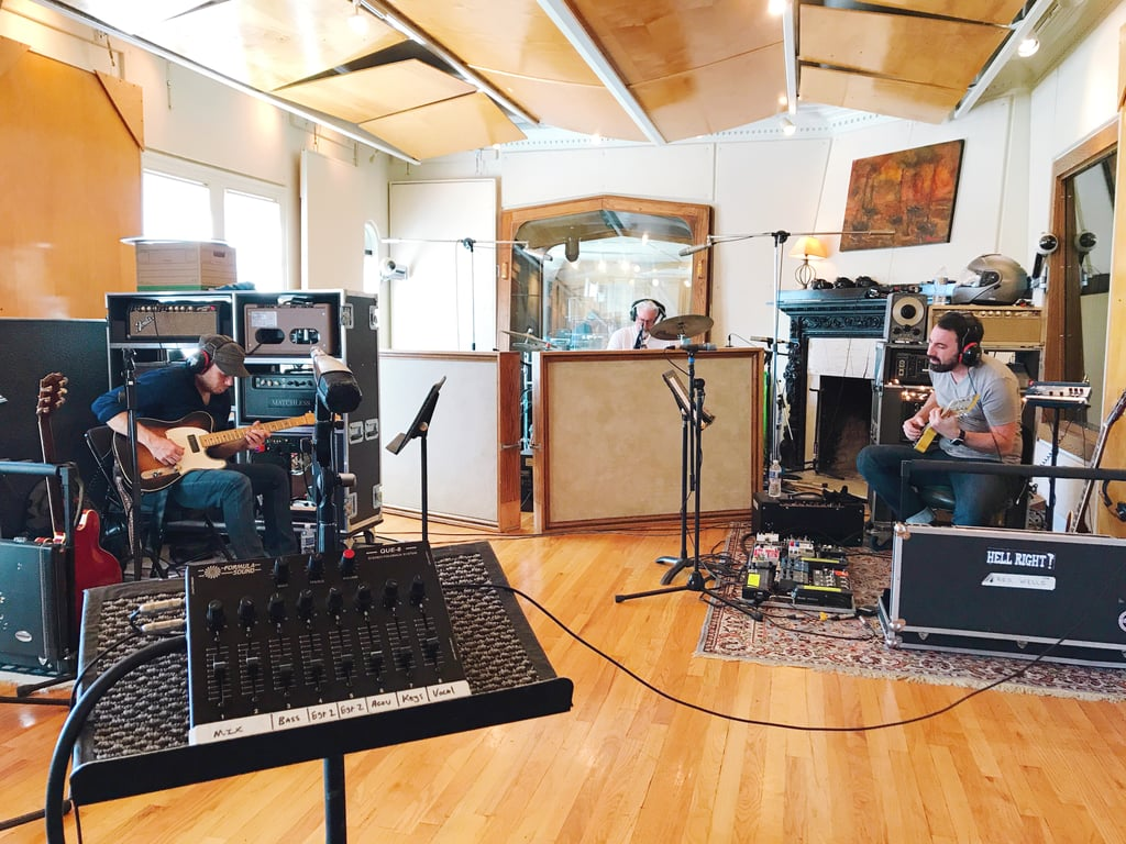 Here 39 S The Band Recording In The Studio A Tracking Room Castle Recording Studios Near