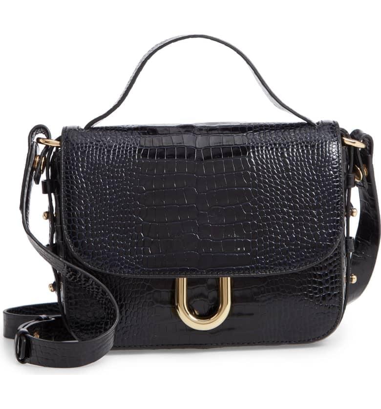 efc2669ac76 J.Crew Harper Croc-Embossed Leather Crossbody Bag | Best Classic ...