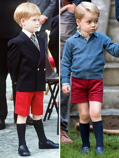 Prince George Wears a 'Harry' Sweater - and Twins with His Uncle in Red Shorts!