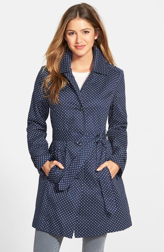 84b68529 London Fog Petite Women's Polka Dot Single Breasted Trench Coat ($198)